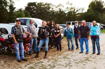 Bikers at the Seven Springs Campground and Rattlesnake Saloon