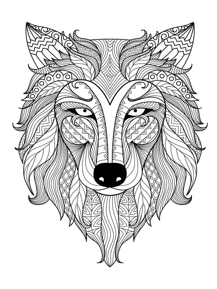 Animals coloring pages for Adults. Free Printable Animals ... | free printable colouring pages for adults animals