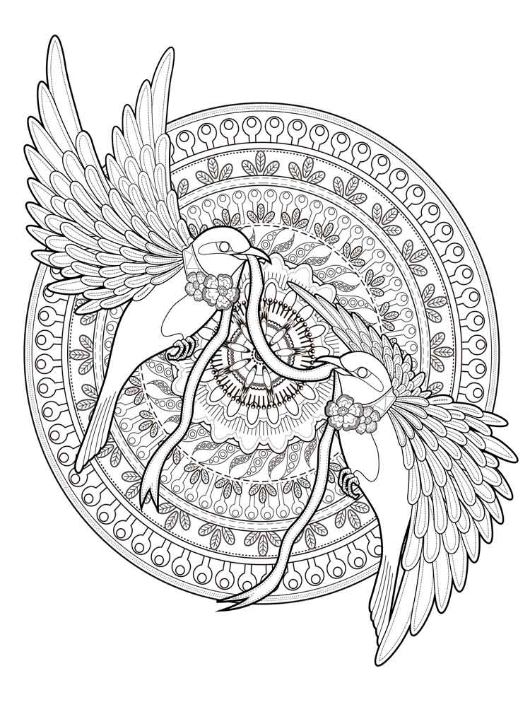 Animal mandala coloring pages for adult. Free Printable ...   free printable animal mandala coloring pages for adults