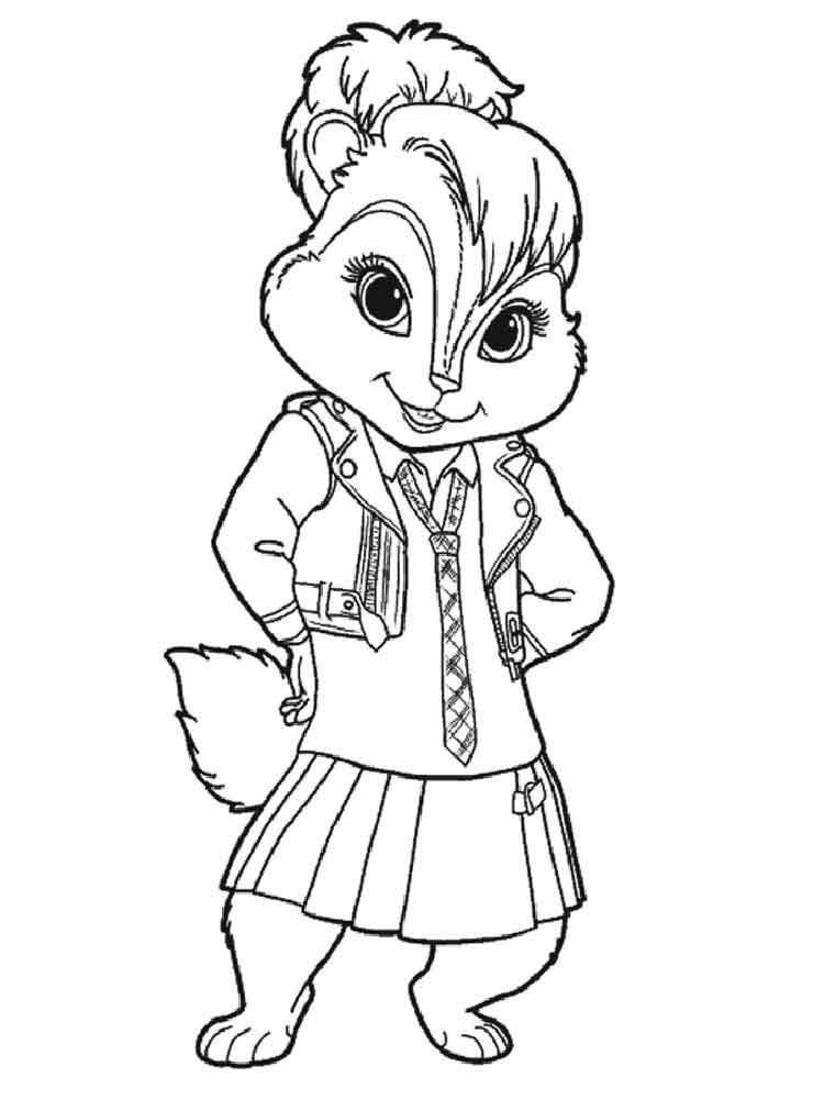 Alvin And The Chipmunks Coloring Pages Download And Print