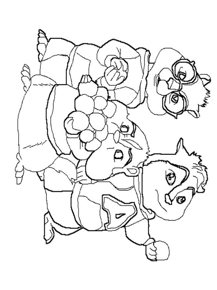 alvin and the chipmunks coloring pages. download and print