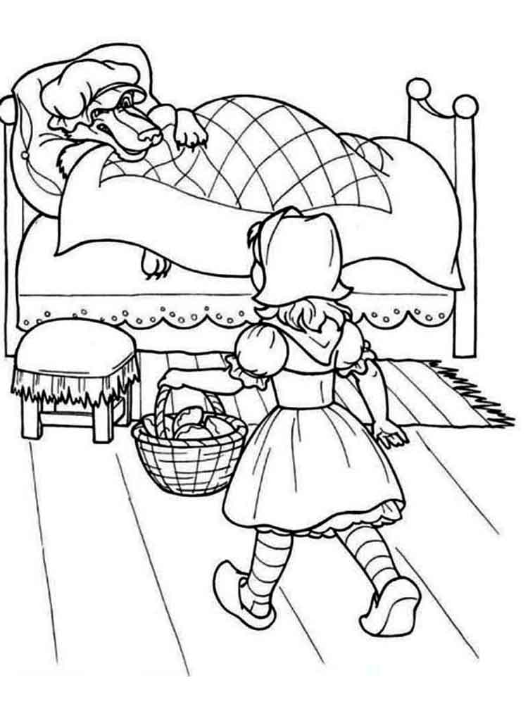 little red riding hood coloring pages. free printable