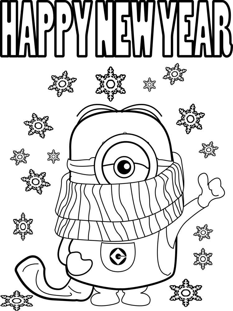 happy new year coloring pages. free printable happy new