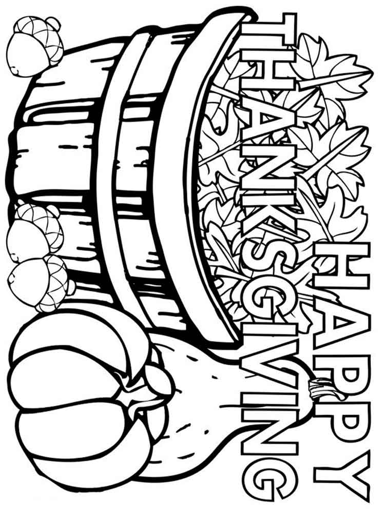 thanksgiving day coloring pages. free printable