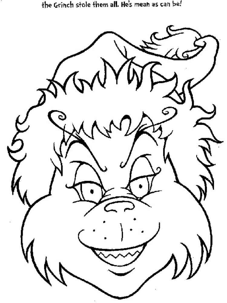 The Grinch Coloring Pages Free Printable The Grinch Coloring Pages