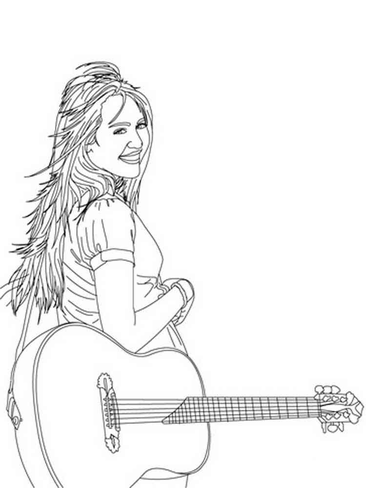 hannah montana coloring pages. download and print hannah