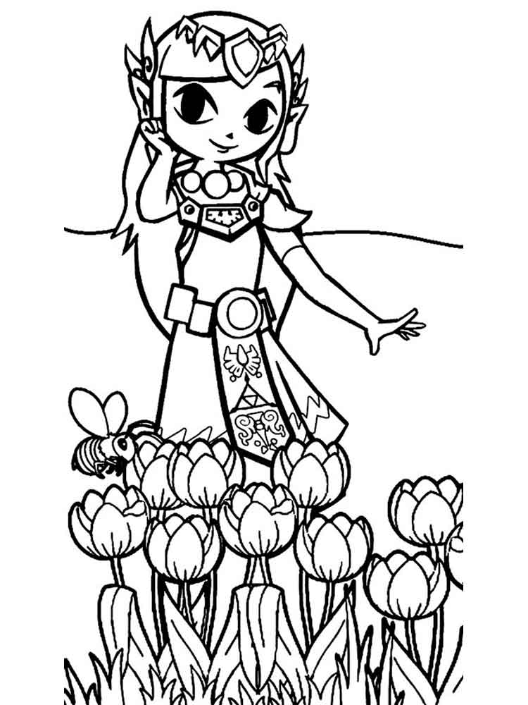 Zelda Coloring Pages Free Printable Zelda Coloring Pages