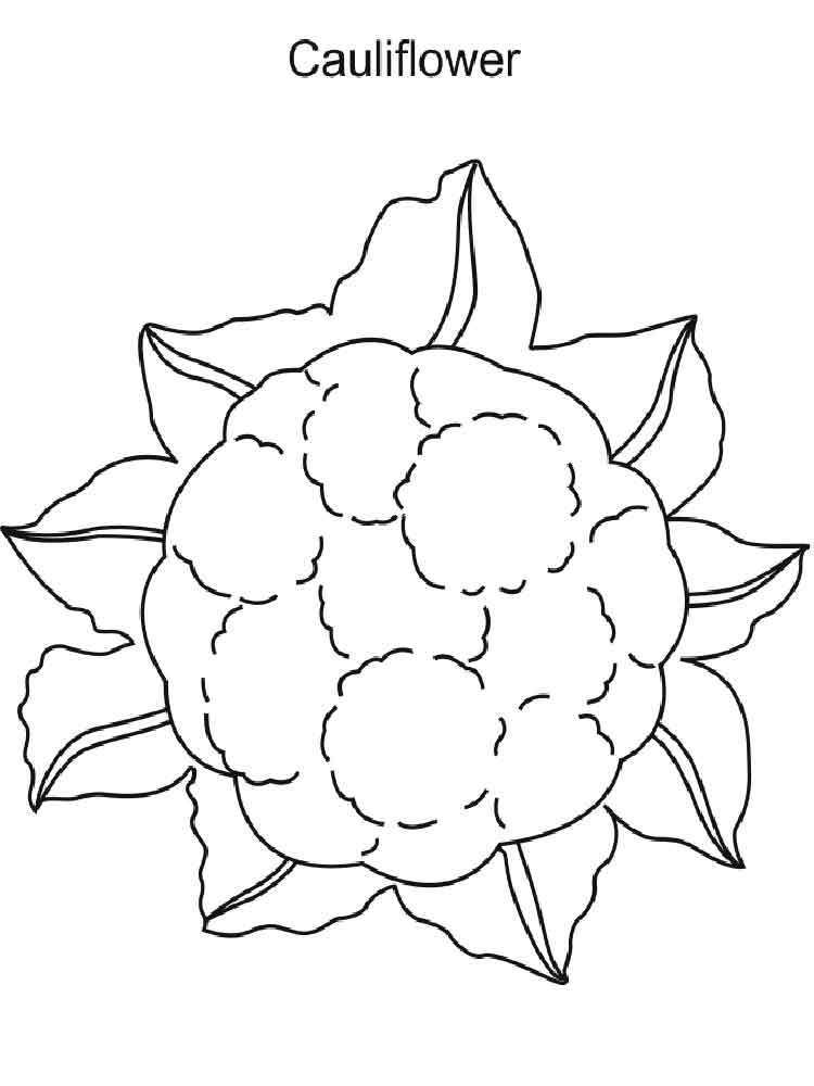 Cauliflower Coloring Pages Download And Print