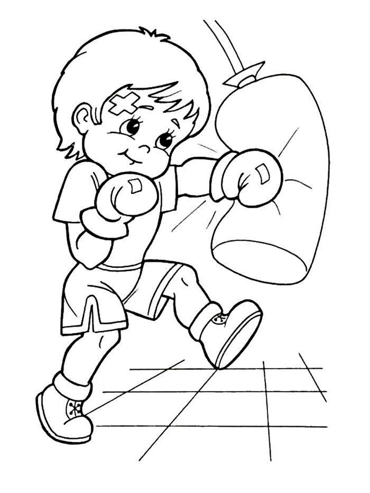 free boxing coloring pages. download and print boxing