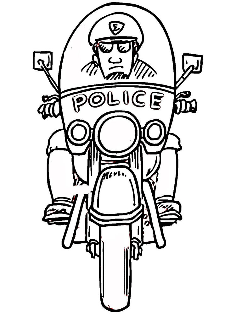 Police Officer Coloring Pages Free Printable Police Officer Coloring Pages