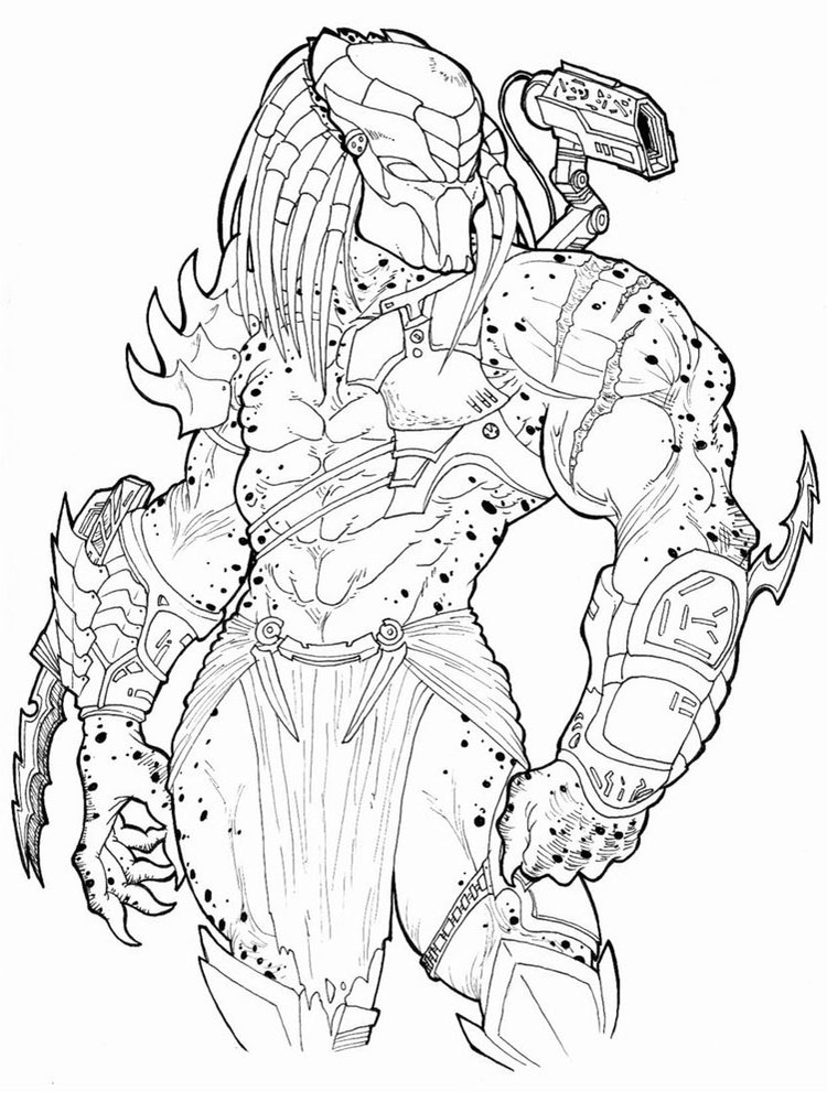 Predator Coloring Pages Free Printable Predator Coloring