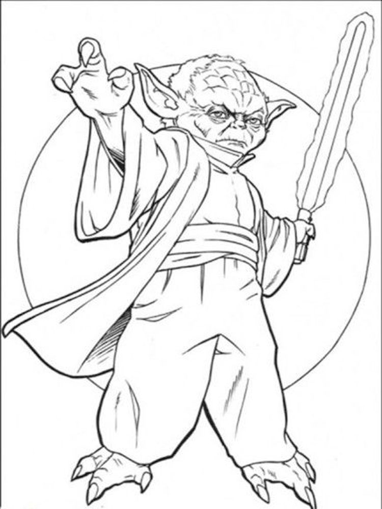 Star Wars Yoda Coloring Pages Free Printable Star Wars