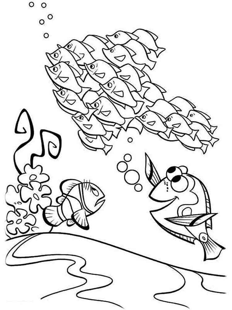 nemo coloring pages download and print finding nemo coloring pages