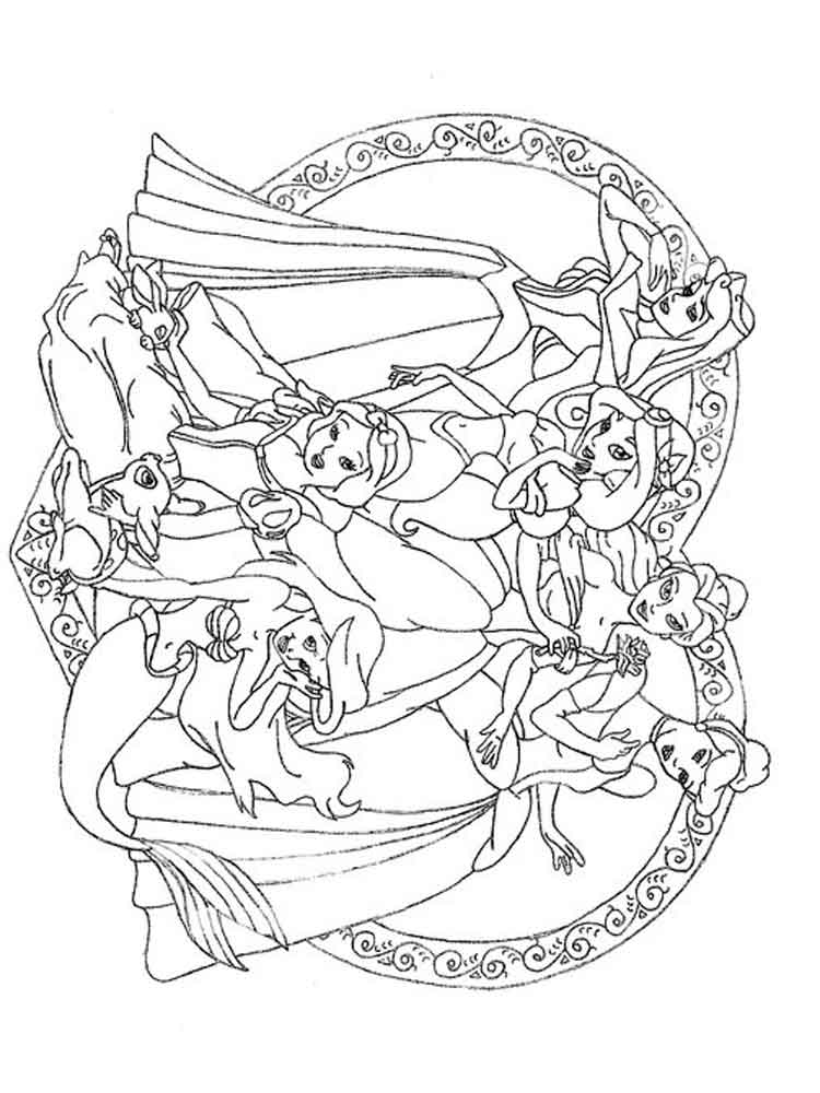 Disney princess coloring pages to print. Free Disney ... | all disney princess coloring pages printable