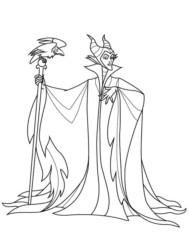 Maleficent Coloring Pages For Kids Free Printable Maleficent Coloring Pages