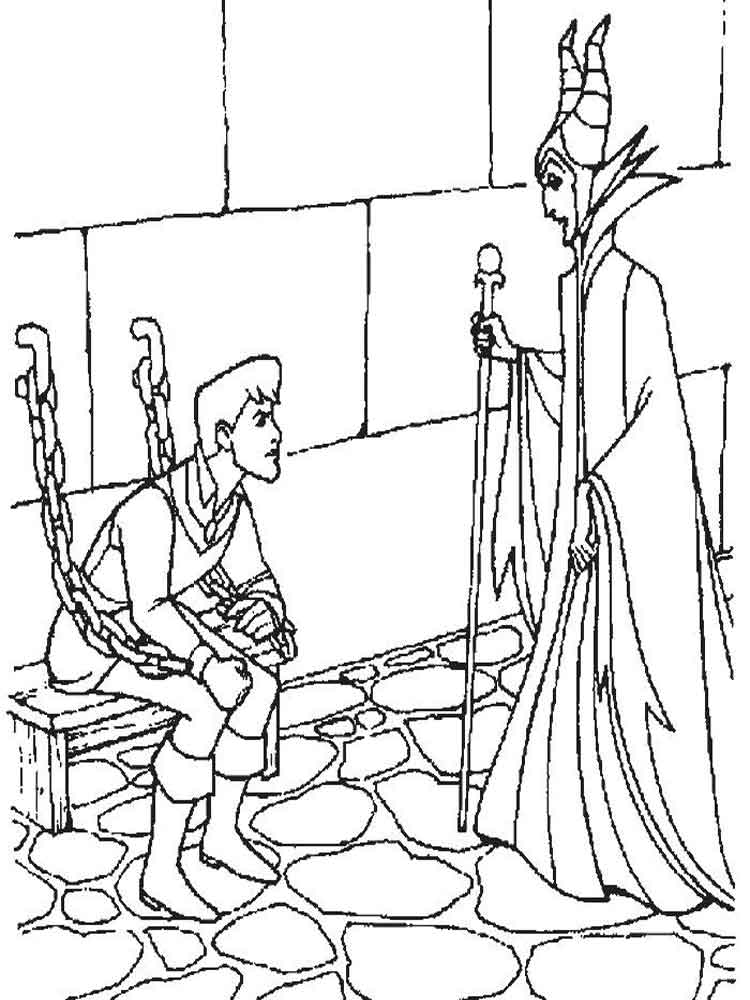 maleficent coloring pages for kids. free printable