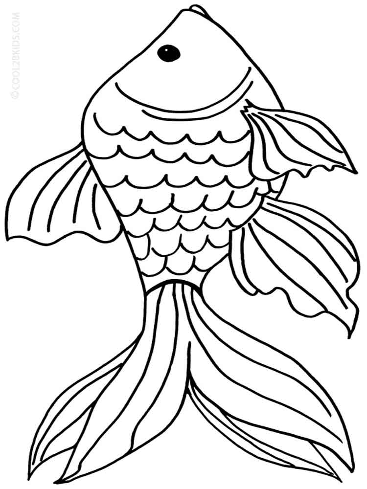 goldfish coloring pages. download and print goldfish