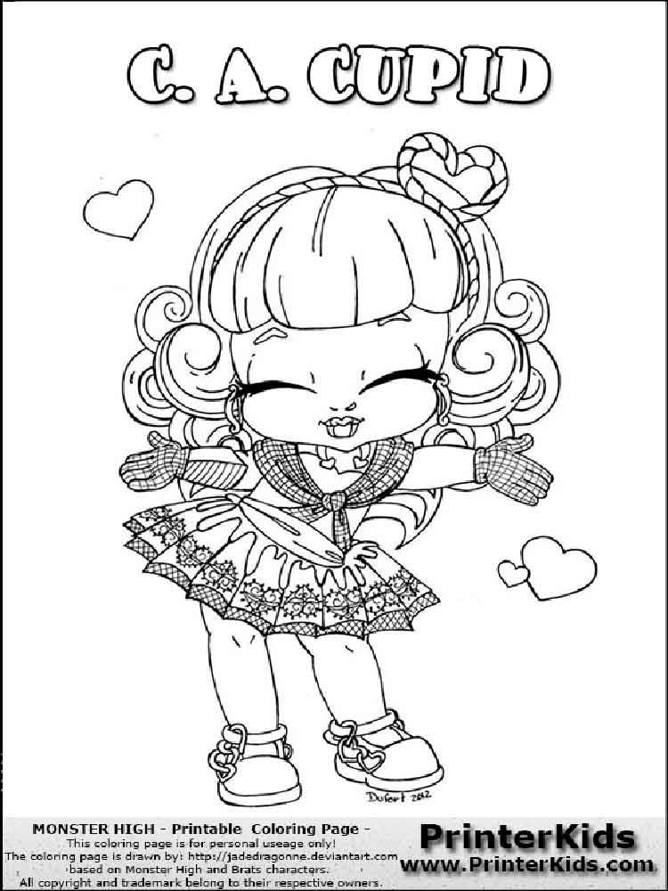 Printable Baby Monster High Coloring Pages Novocom Top