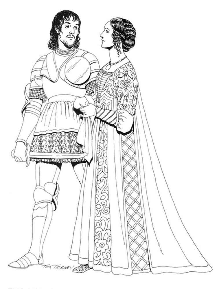 Historical Fashion Coloring Pages Free Printable