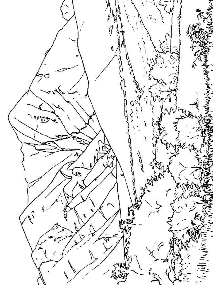 mountains coloring pages. download and print mountains