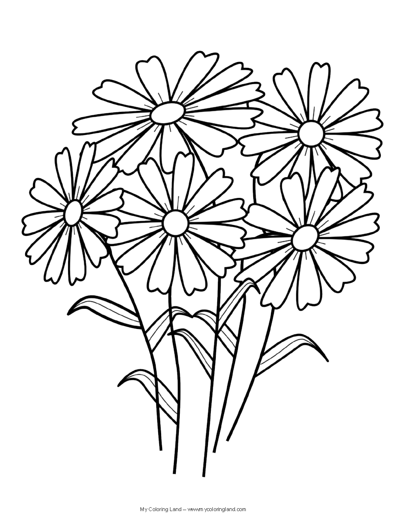Free coloring pages spring flowers