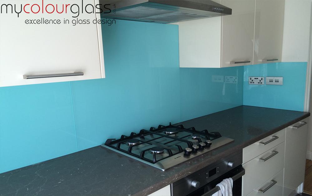 Coloured Kitchen Glass Splashbacks UK Etching Design On