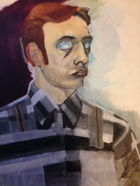 Self portrait of Mark Reichert, possibly oil paint on canvas