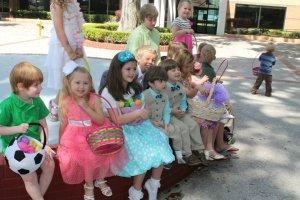 The Kids at COM's Easter Egg Hunt