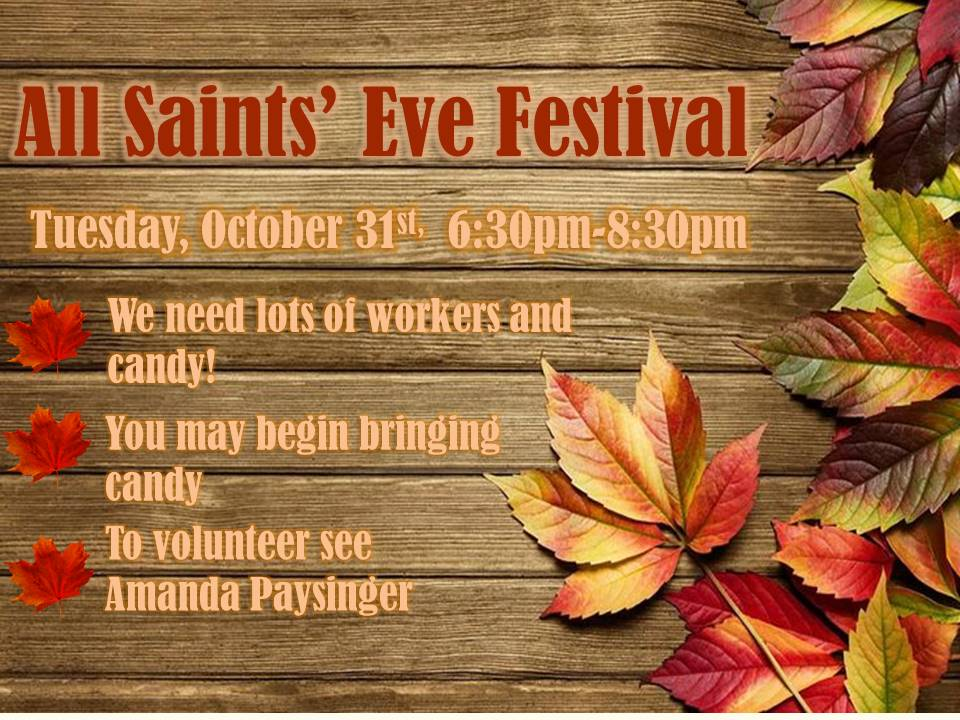 Halloween Is An Old English Way Of Referring To The Night Before All  Saintsu0027 Day, So While Children All Over The Country Are Heading Out To  Gather Candy And ...