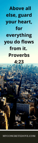 Eradicate microaggressions - Proverbs 4:23 with cityscape background