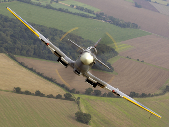 Twelfth place: a Second World War-era Spitfire over RAF Coningsby. Photo by SAC Scott Lewis/Ministry of Defence (UK), OGL.