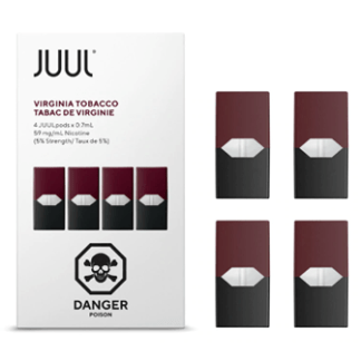 JUUL VIRGINIA TOBACCO Pods – Pack of 4