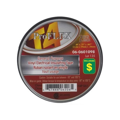 Pro Flex Electrical Tape Pack Of 2