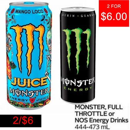 2 For $6 Monster Energy Drink