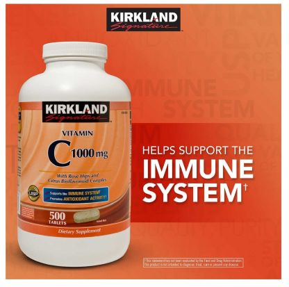 Kirkland Signature Vitamin C 1000 mg., 500 Tablets