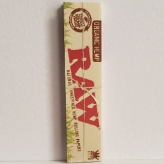 RAW ORGANIC NATURAL UNREFINED HEMP ROLLING PAPERS KING SIZE SLIM, PACK/32