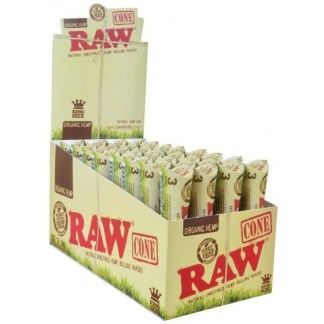 Pack/3 RAW ORGANIC NATURAL UNREFINED HEMP PRE-ROLLED CONES King Size