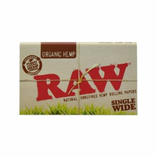 Raw Organic Natural Unrefined Hemp Rolling Paper Single Wide