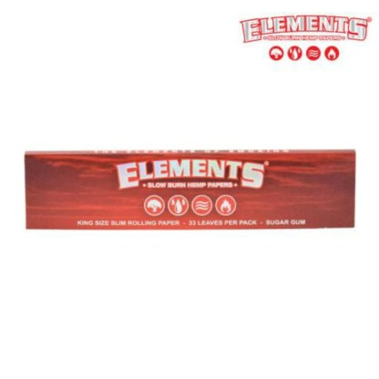 Elements Red King Size Ultimate Slow Burning Hemp Rolling Papers
