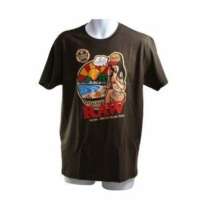 Raw Brazil Mens Chocolate Brown Tshirt