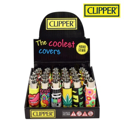 Clipper Refilable Lighters Pop Cover Mix Hand Sewn