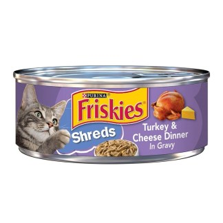 Purina Friskies Cat Food Shredded Turkey & Cheese Diner