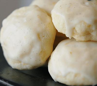 Orange Cream Cheese with Vanilla Bean Icing