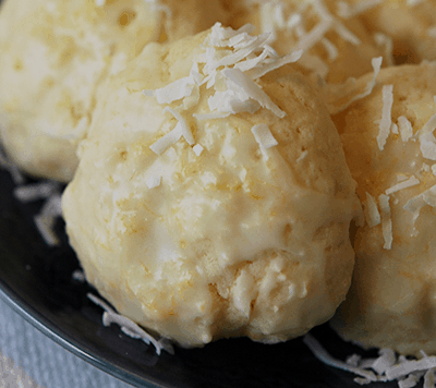Pineapple Coconut with Lemon Glaze Cookies