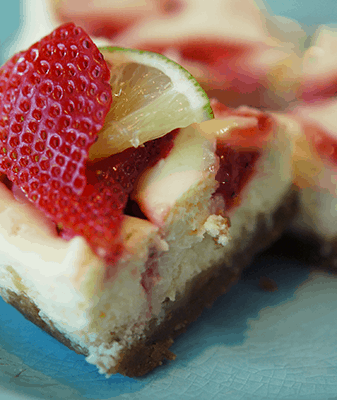 Strawberry Key Lime Cheesecake Bites