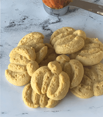 Pumpkin Pie Spritz Cookies