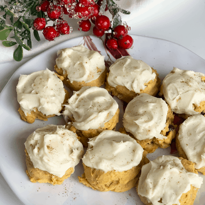 Pumpkin Cranberry with Cream Cheese Frosting