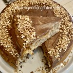 Pastel de chocolate y nueces