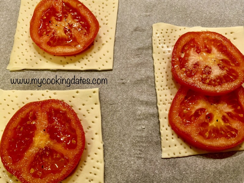 Hojaldre en tomates