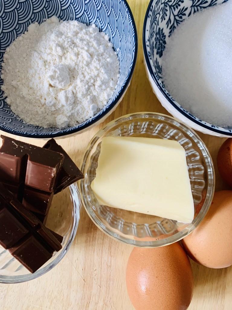 Ingredientes Pastelitos de Chocolate con leche